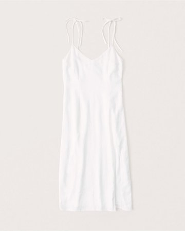 Women's Linen-Blend Midi Dress | Women's Dresses & Jumpsuits | Abercrombie.com