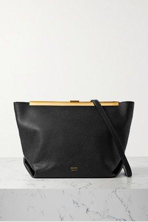 Augusta Textured-leather Shoulder Bag - Black