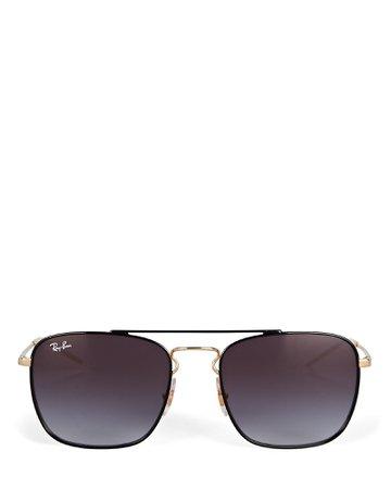 Ray-Ban Caravan Rectangular Wire Sunglasses | INTERMIX®