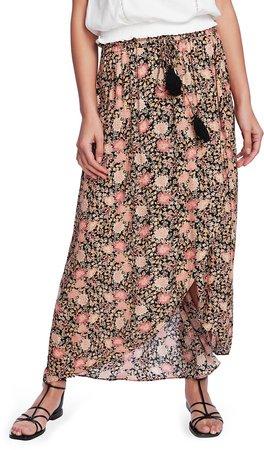 Dahlia Garden Print Midi Tulip Skirt