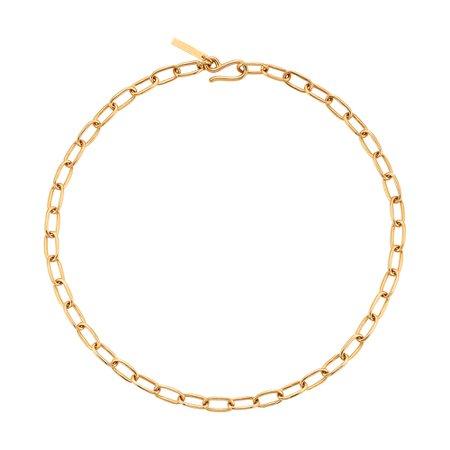 Small Gold Rectangular Chain Collar | Sophie Buhai - Goop Shop