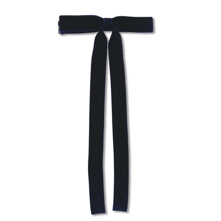 Milk & Soda Velvet Ribbon Bow Tie Navy - Leo & Bella