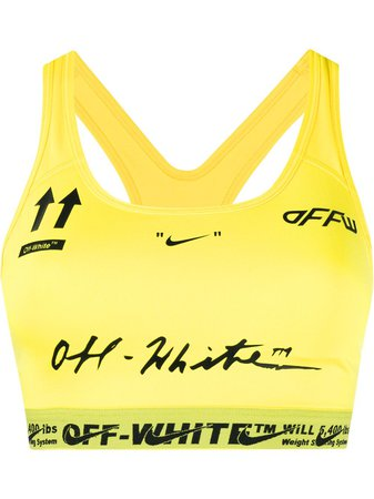 Yellow Off-White X Nike Logos Printed Compression Top   Farfetch.com