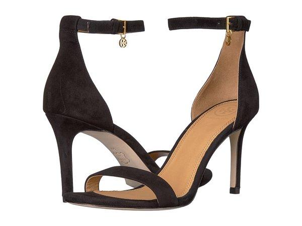 Tory Burch - Ellie 85mm Ankle-Strap Sandal (Perfect Black) Women's Sandals