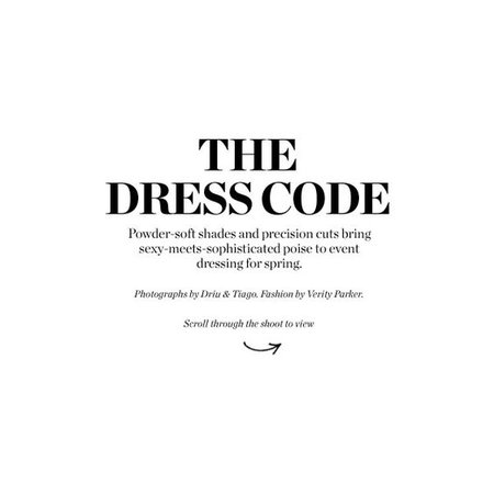 THE DRESS CODE TEXT