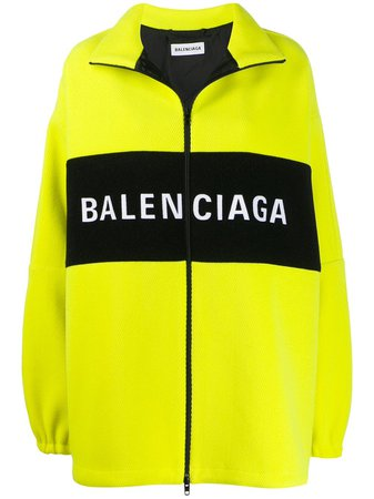 Balenciaga Veste Oversize Zippée à Logo - Farfetch