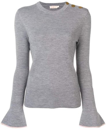bell sleeve knitted top