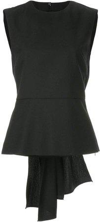 gathered sleeveless top