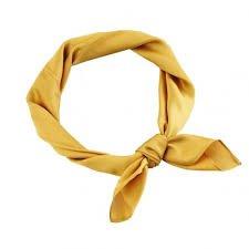 Yellow head scarf