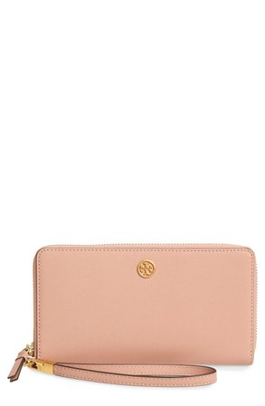 Tory Burch Robinson Leather Zip Continental Wallet | Nordstrom