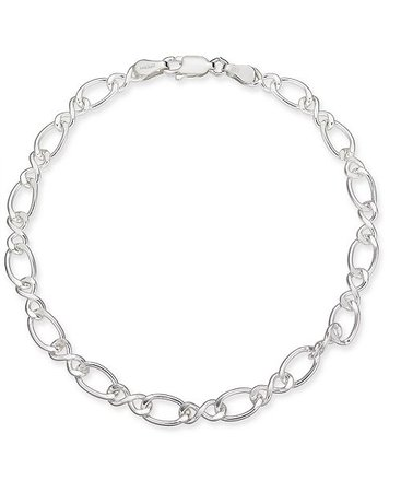 Giani Bernini Fancy Link Chain Bracelet in Sterling Silver, Created for Macy's & Reviews - Fashion Jewelry - Jewelry & Watches - Macy's