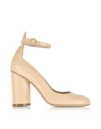 Stuart Weitzman Pasadena Blush Leather Heel Pumps