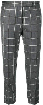 Shadow Check Skinny Trouser