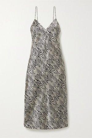 Cami NYC | The Raven zebra-print silk-charmeuse midi dress | NET-A-PORTER.COM