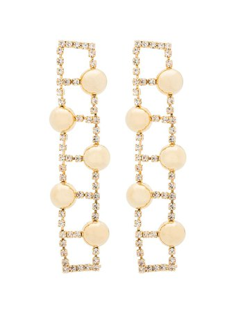 Rosantica gold-tone crystal-embellished Earrings - Farfetch