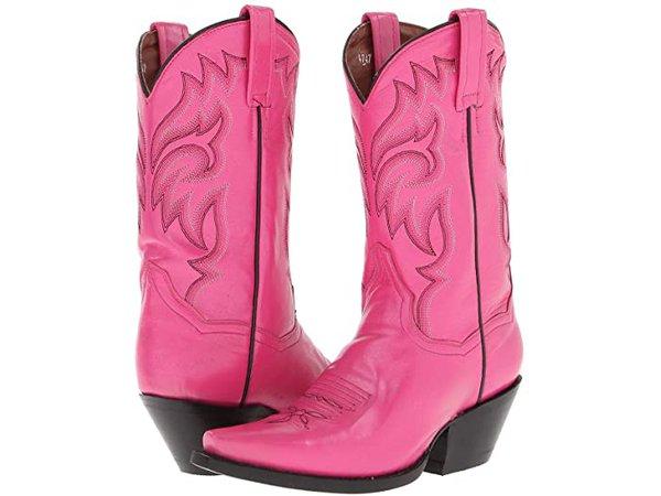 Pink cowboy boots