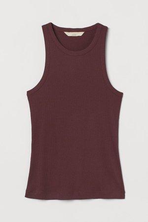 Silk-blend Tank Top - Burgundy - Ladies | H&M US