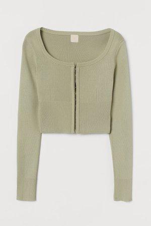 Short Cardigan - Green