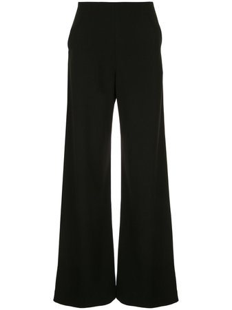 Black Paula Knorr Flared Style Trousers   Farfetch.com