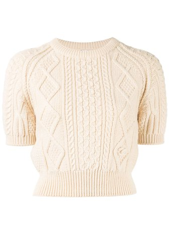 Chanel Pre-Owned cable knit jumper £2,379 - Buy Online - Mobile Friendly, Fast Delivery