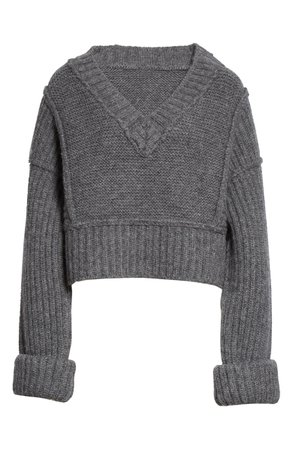 Jacquemus Cavaou Wool Blend Crop Sweater | Nordstrom
