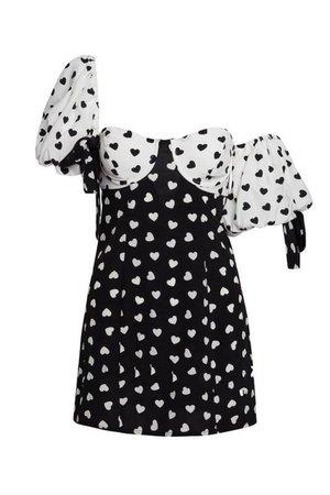I Heart U Puff Sleeve Dress