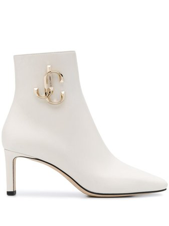 White Jimmy Choo Minori 65Mm Boots | Farfetch.com