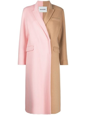 Ava Adore double-breasted two-tone Coat
