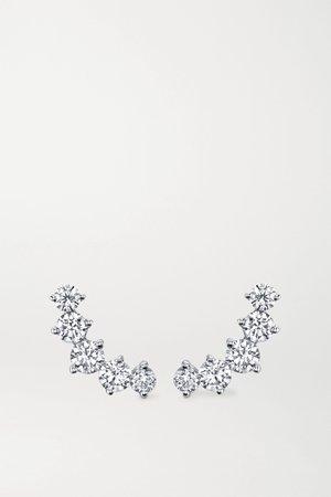 White gold Arc 18-karat white gold diamond earrings | Anita Ko | NET-A-PORTER