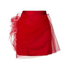 Y. Project Tulle Layered Mini Skirt in Red