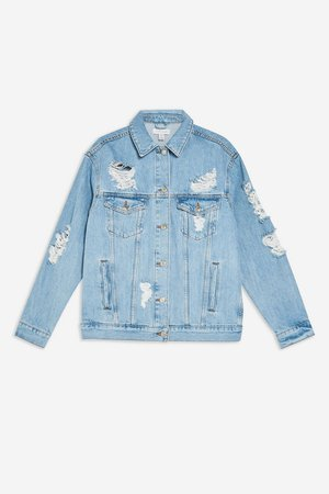 Ripped Denim Jacket - Topshop USA