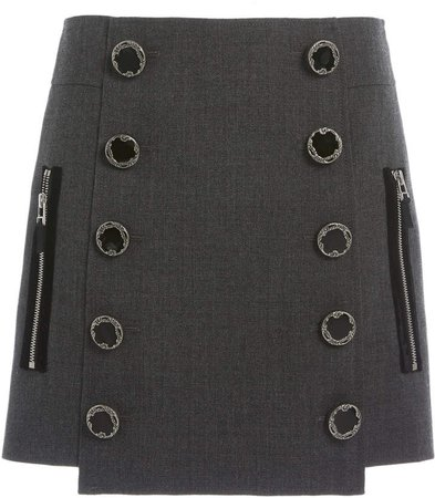 Andrew Gn Double-Breasted Wool Mini Skirt