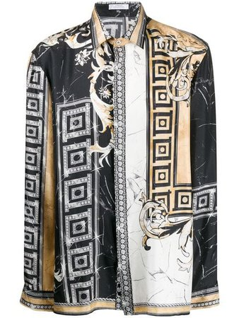 Versace Collection Crystal Baroque-print Shirt - Farfetch