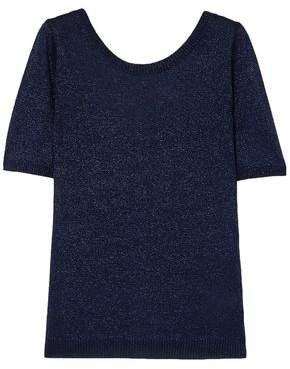 Metallic Stretch-knit Top