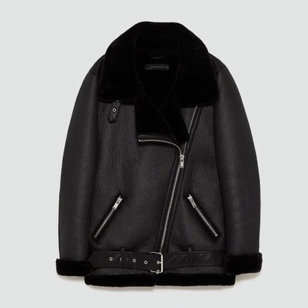 leather fur jacket - Google Search
