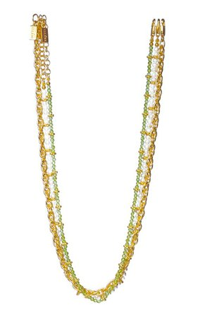 Dani 24K Gold-Plated Layered Necklace by VALÉRE