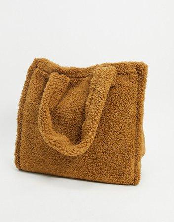 asos borg tote bag - Google Search