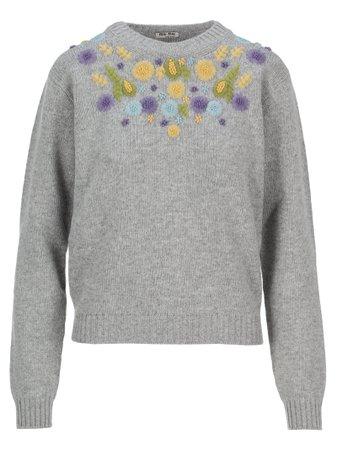 Miu Miu Embroidered Sweater