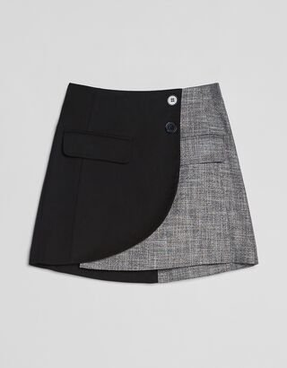 Contrast cropped blazer - NEW - Woman | Bershka