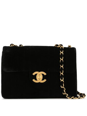 Chanel Pre-Owned 1995 Jumbo CC Double Chain Shoulder Bag - Farfetch