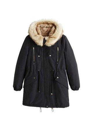 MANGO Hooded water-repellent coat