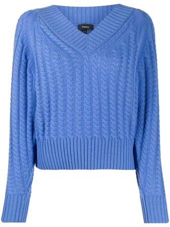 Theory V-neck Cashmere Knit Jumper - Farfetch