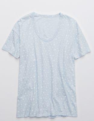 Aerie Boyfriend Voop Oversized T-Shirt blue