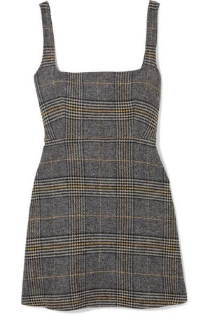 ALEXA CHUNG Cutout Tweed Mini Dress