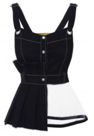 Peplum Black Waistcoat