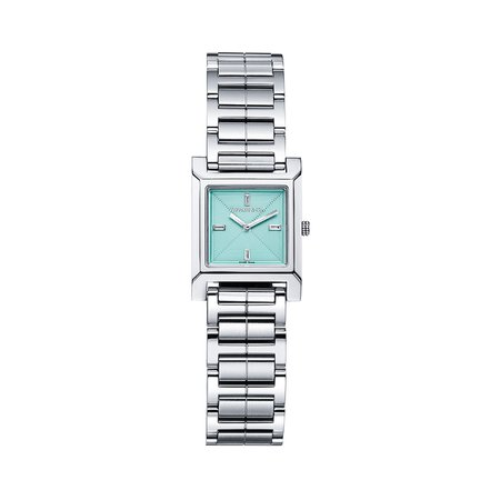 Tiffany 1837 Makers 22 mm square watch in stainless steel with Tiffany Blue®. | Tiffany & Co.