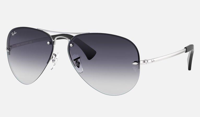 Ray-Ban RB3449 Silver - Metal - Grey Lenses - 0RB3449003/8G59   Ray-Ban® USA