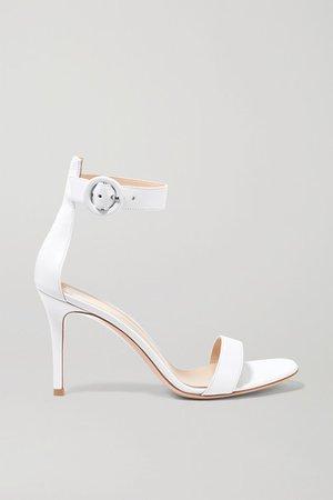 Portofino 85 Leather Sandals - White