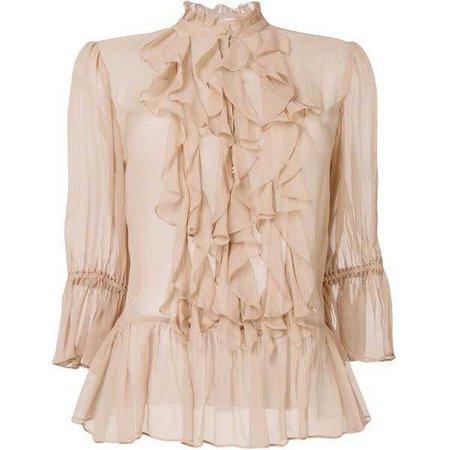 Ulla Johnson ruffled blouse ($690)
