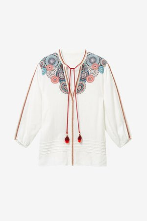 Flared viscose blouse | Desigual.com